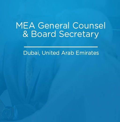 MEA General Counsel & Board Secretary